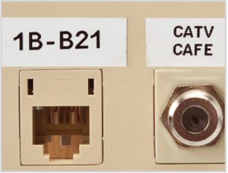 Structured cabling labeling
